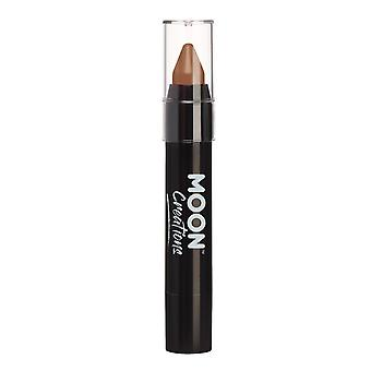 Face Paint Stick / Body Crayon makeup for the Face & Body by Moon Creations - 3.5g - Brown