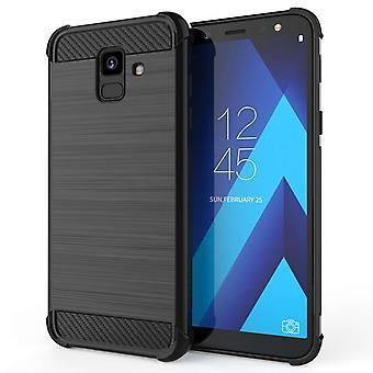 Samsung Galaxy A6 (2018) Carbon Anti Fall TPU Case - Black