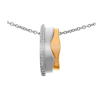Orphelia Silver 925 Chain With Pendant 925 Siver And Roseplated Zirconium  ZH-6042