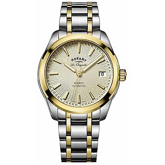 Rotary Womens Legacy Automatic   Two-Tone Stainless Steel/PVD Strap LB90166/03 Watch