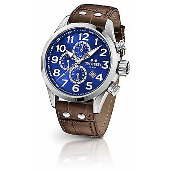 TW Steel Volante 45mm Chronograph Brown Leather Strap VS63 Watch