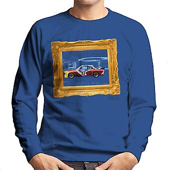 BMW Art Car Calder Gold Frame Men's Sweatshirt
