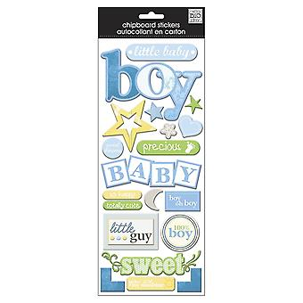 Designer Chipboard Stickers-Baby Boy - Flock