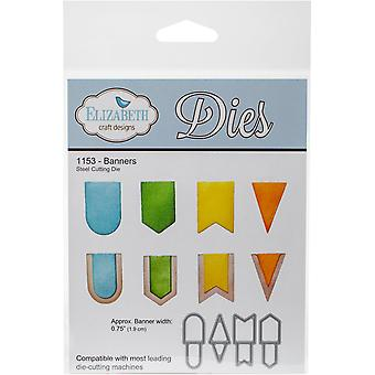Elizabeth Craft Metal Die-Banners, .75
