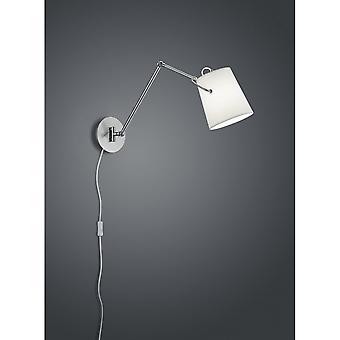 Trio Lighting Meran Modern Nickel Matt Metal Wall Lamp