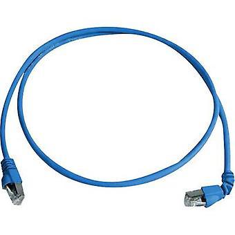 Telegärtner RJ45 Networks Cable CAT 6A S/FTP 2 m Blue Flame-retardant, Halogen-free
