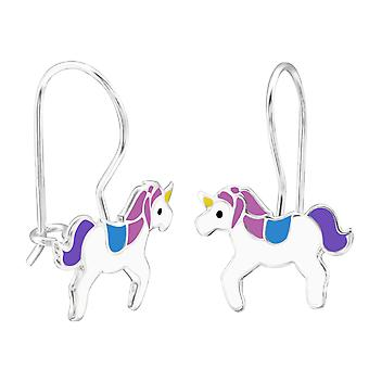 Unicorn - 925 Sterling Silver Earrings - W28664x