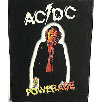 Ac/Dc Powerage Jumbo Sized Sew-On Cloth Backpatch 360Mm X 300Mm
