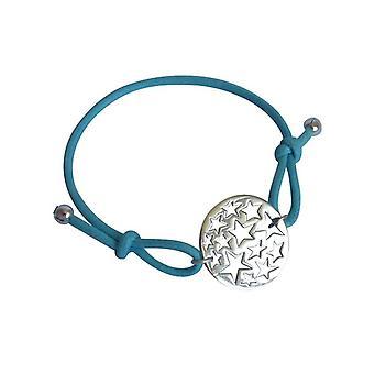 Gemshine - damas - pulsera - constelación de estrellas de nudos - 925 plata - azul - talla ajustable