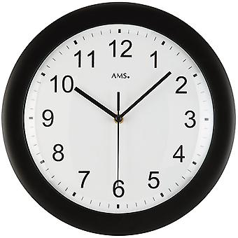 Radio controlled wall clock black wall clock radio black plastic housing