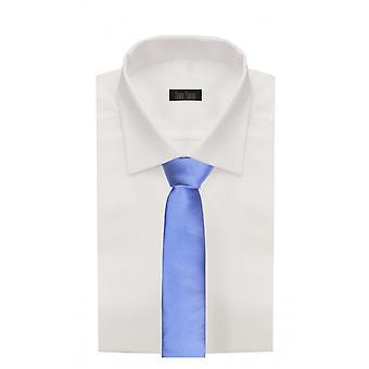 Schlips Krawatte Krawatten Binder Schmal 6cm Blau Uni Fabio Farini