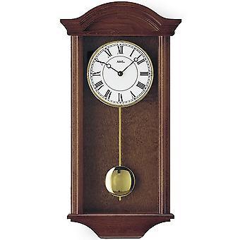 ساعة حائط مرو مع البندول الكوارتز الخشب الصلب طلي الألوان الجوز