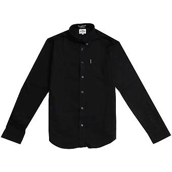 Ben Sherman Långärmad Oxford skjorta - True Black