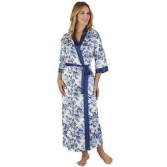 Slenderella GL2775 Women's Floral Satin Floral Robe Loungewear Bath Dressing Gown