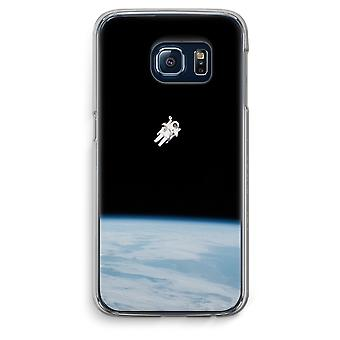 Samsung Galaxy S6 Edge Transparent Case (Soft) - Alone in Space