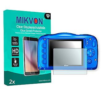 Nikon COOLPIX S31 Screen Protector - Mikvon Clear (Retail Package with accessories)