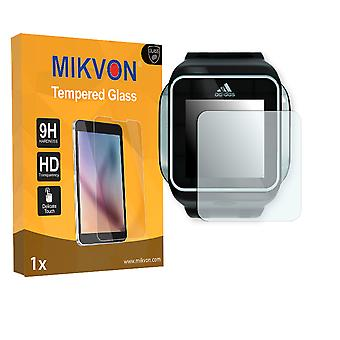 Adidas miCoach SMART RUN Screen Protector - Mikvon flexible Tempered Glass 9H (Retail Package with accessories)