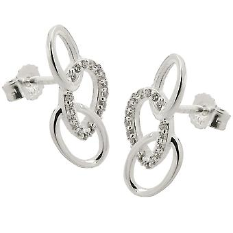 Stud earrings with 3 ellipses silver 925
