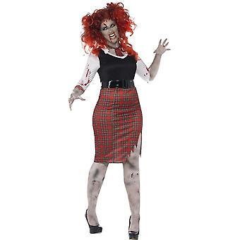 Curve Zombie School Girl Costume di Smiffy
