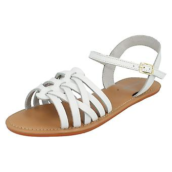Womens Leather Collection Flat Gladiator Mules F0928