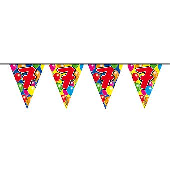 Pennant chain 10 m number 7 years birthday decoration party Garland