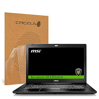 Celicious Vivid Invisible Glossy HD Screen Protector Film Compatible with MSI Workstation WS72 6QH [Pack of 2]