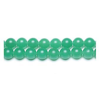 Strand 95+ Green Malaysian Jade 4mm Plain Round Beads GS9952-1