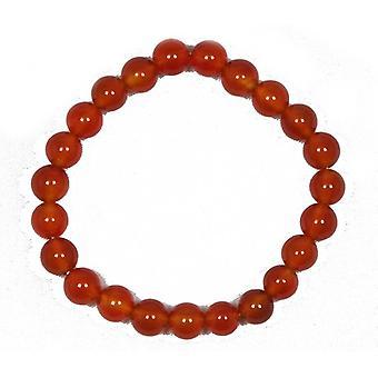 Elastisk armbånd 20 + rød agat 8mm almindelig runde perler Y09330