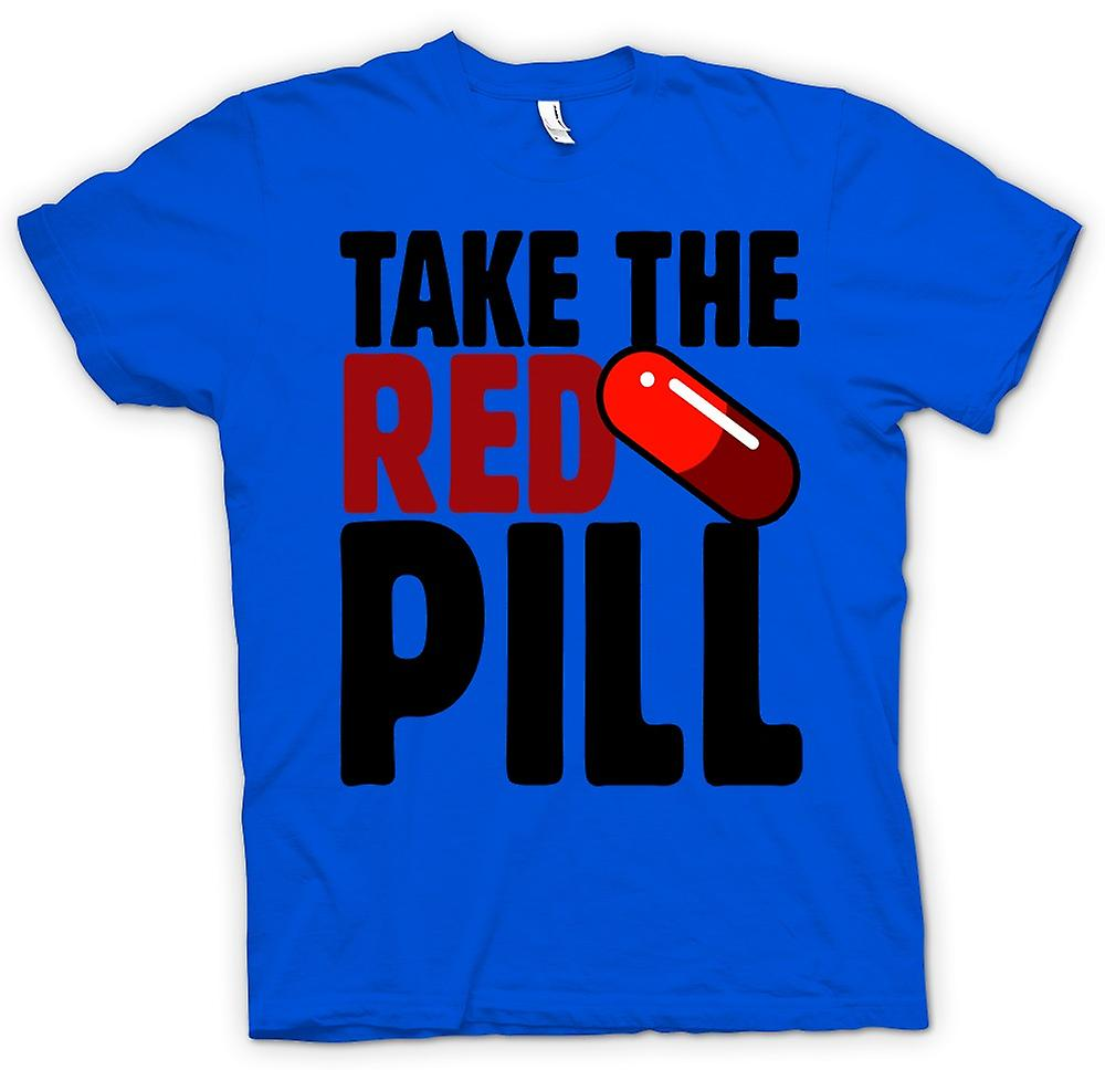 Mens T-shirt - Take The Red Pill Matrix