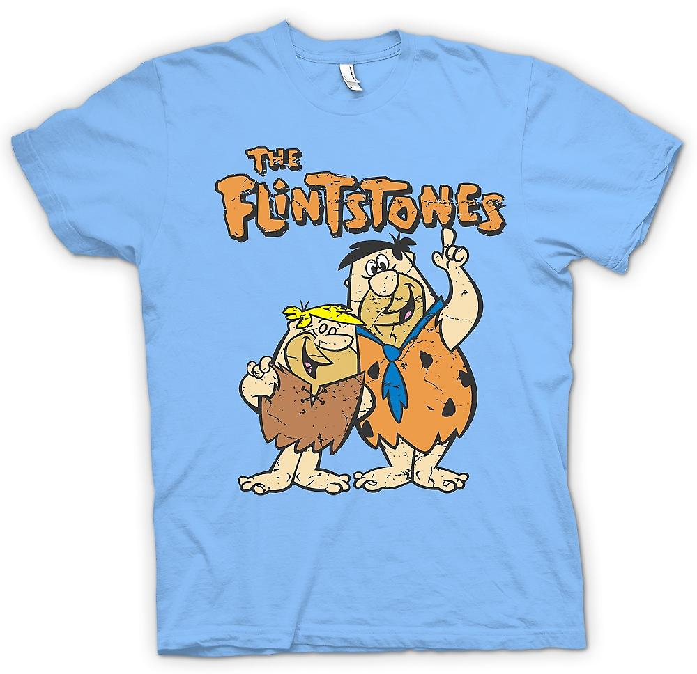 Heren T-shirt-de Flintstones - Fred en Barney - Cool Cartoon