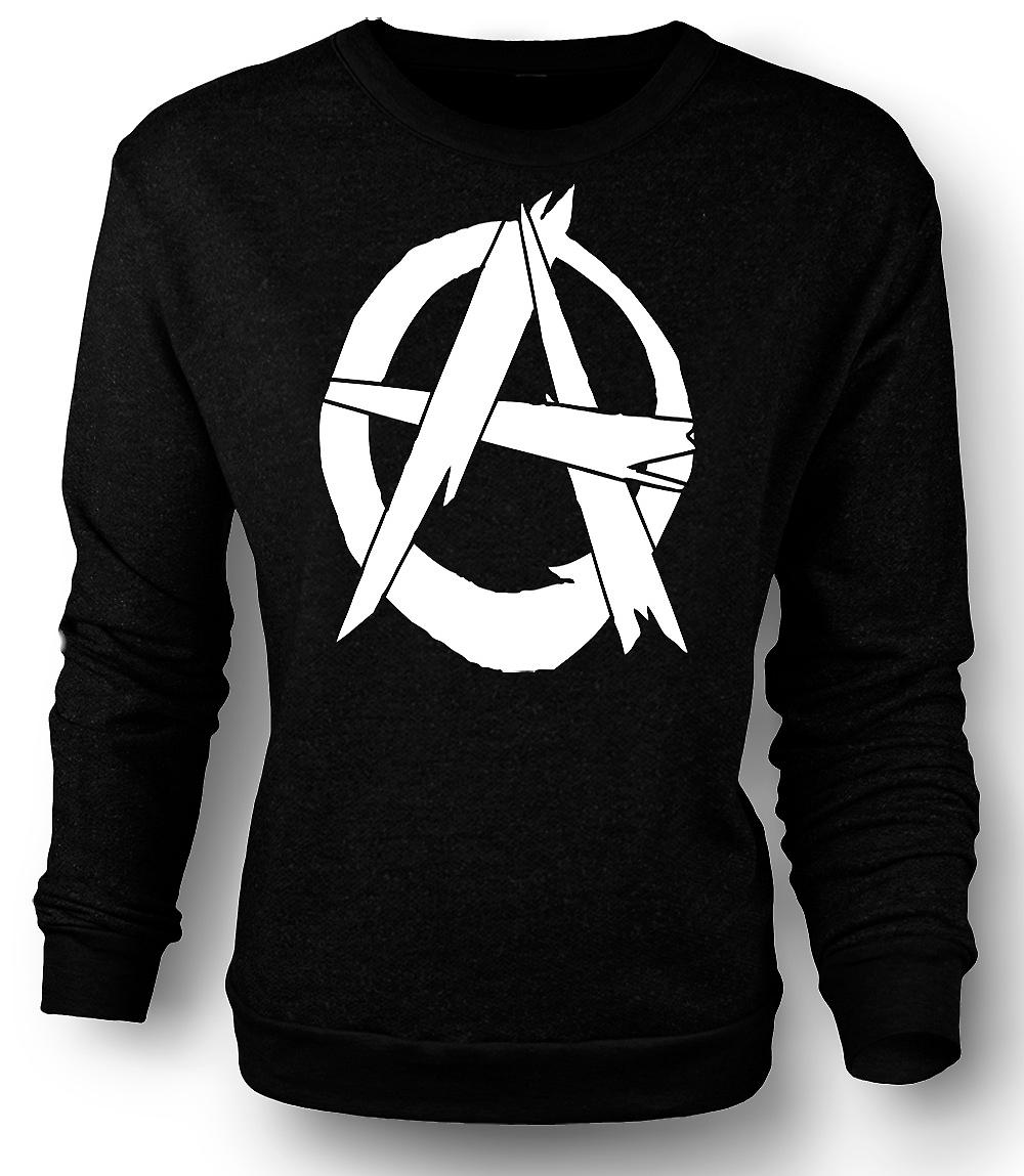 Mens Sweatshirt anarki - Punk