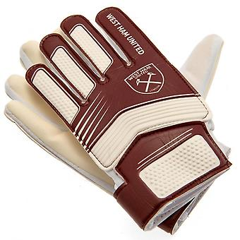 West Ham United FC Kids Goalkeeper Gloves