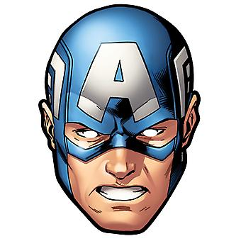 Captain America from Marvel's The Avengers Single Card Party Face Mask
