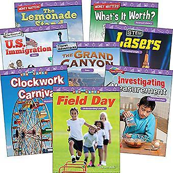 Mesure et données: Grades 2 et 3 (ensemble de 8 livres) (lecteurs de mathématiques)