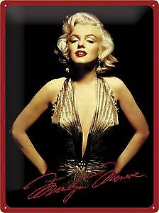 Marilyn Monroe large embossed metal sign