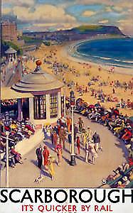 Scarborough (pt) (old rail ad.) fridge magnet