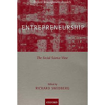 起業家精神 Swedberg ・ リチャードによって社会科学ビュー