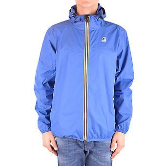 K-way Blue Nylon Outerwear Jacket