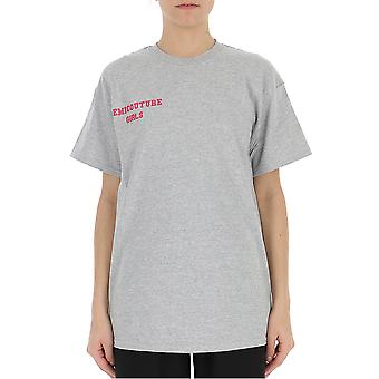Semi-couture Anna Grey Cotton T-shirt
