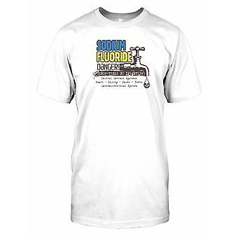 Natriumfluoride gevaar - GIF vergiftig bij inslikken - samenzwering Kids T Shirt