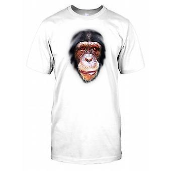 Chimpanzee Face Kids T Shirt