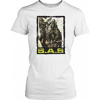 SAS - Special Air Service Soldier Raid Ladies T Shirt