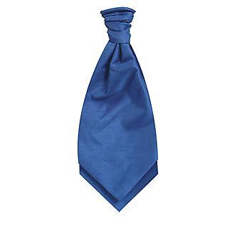 Dobell Königsblau Dupionseide Cravat (Pre gebunden & Hand gebunden)