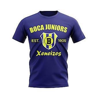 Boca Juniors établi Football T-Shirt (marine)