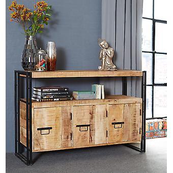 Maison Industrial Metal & Wood 3 Drawer Sideboard