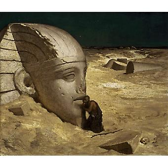 The Questioner of the Sphinx, Elihu Vedder, 50x43cm