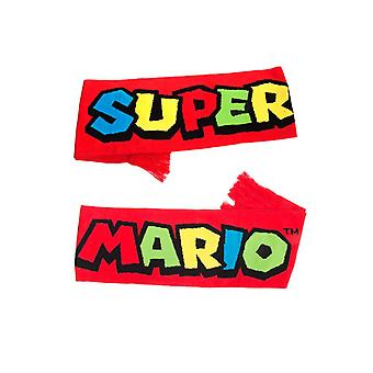 Super Mario Bros. Logo Knitted Scarf