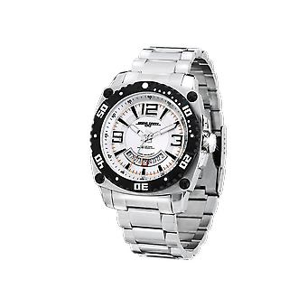 Mens JG9800-22 Stainless Steel Watch Silver Dial Steel Strap - Jorg Gray