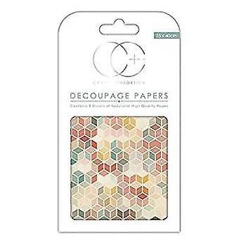Craft konsortium retro 3 decoupage papper (CCDECP160)