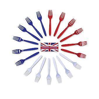 Bristol Novelty Plastic Forks (Pack Of 18)